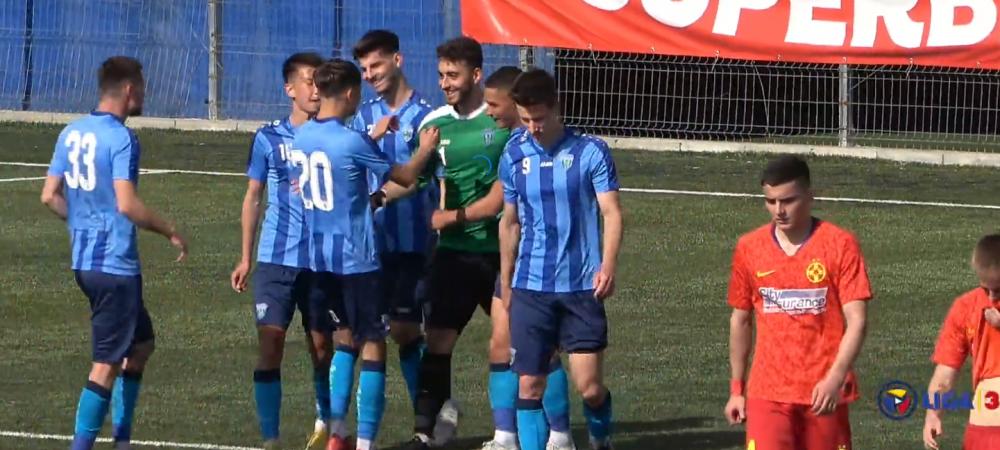 Umilinta maxima pentru FCSB in razboiul cu Steaua! Au primit gol de la portarul advers si au luat o bataie grava, desi au avut jucatori de Liga 1 in echipa. Imaginile momentului