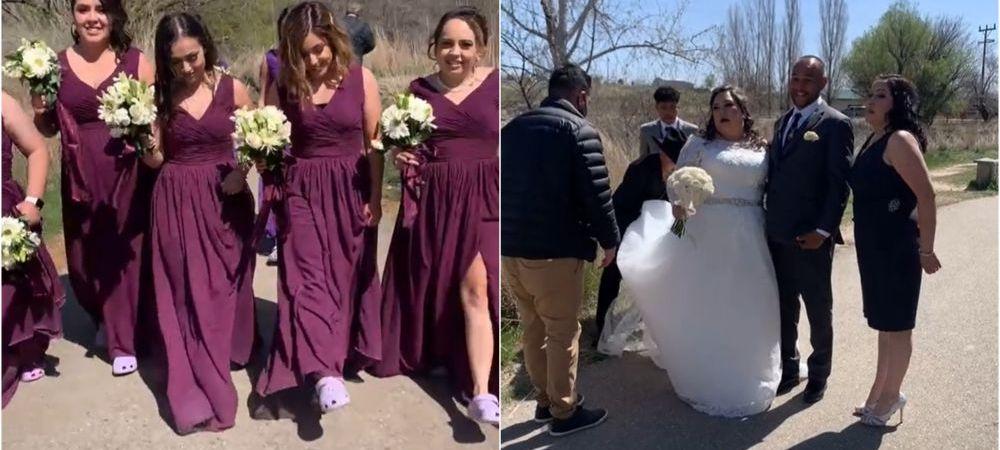 Mireasa, scoasa din minti in ziua nuntii de domnisoarele de onoare! Fetele au facut fix lucrul pe care ea l-a interzis
