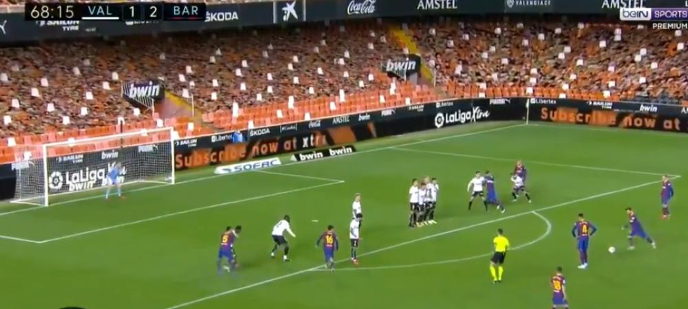 Asta nu e om! Messi e ZEU, nu e niciun dubiu. Gol superb marcat cu Valencia. Barcelona a intors meciul de la Valencia cu 3 goluri in 13 minute. Cum arata clasamentul