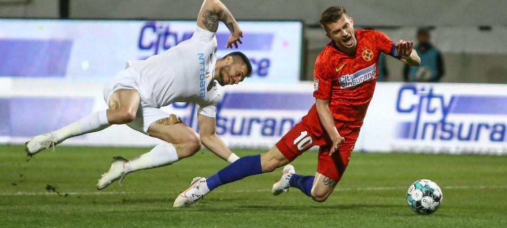 """""""Vlad avea mingea in brate!"""" Explicatia lui Tanase dupa golul inscris de Burca in prelungiri! Ce a spus capitanul FCSB dupa inca un meci fara victorie"""