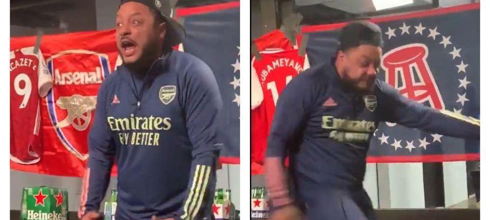 Reactia incredibila a unui fan Arsenal in momentul schimbarii lui Aubameyang! Imaginile care fac inconjurul lumii dupa eliminarea din Europa League