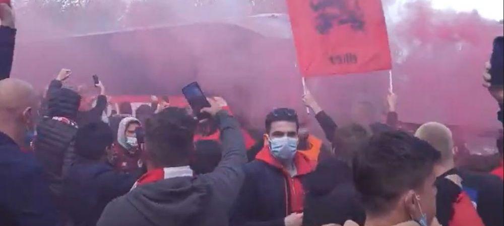 Care restrictii? Fanii lui Lille au facut spectacol inaintea meciului cu Lens. Suprematia lui PSG, amenintata