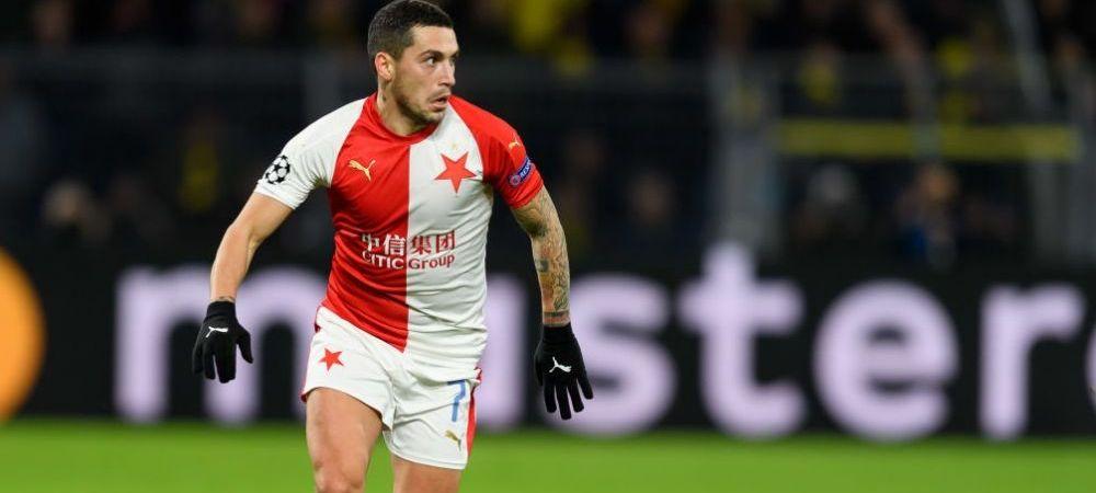 """""""E in cea mai buna forma a vietii lui!"""" Nicolae Stanciu, laudat de jurnalistii cehi dupa titlul cucerit de Slavia Praga"""