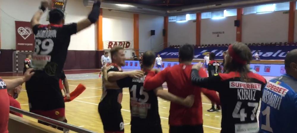 Nimeni nu-i musca! Dinamo, campioana iar la handbal! Jucatorii au sarbatorit dupa victoria cu Baia Mare