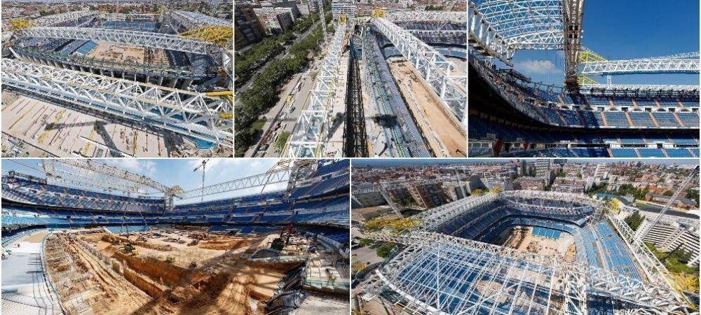 Imagini de ultima ora cu noul stadion al lui Real! Cum arata Bernabeu dupa transformarea galactica pusa la cale de Perez
