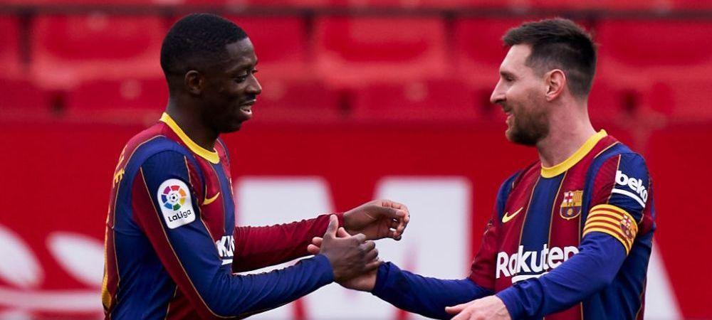 """A jucat cu Messi si Suarez, dar a ramas cu gandul la el!""""De el imi place cel mai mult!"""" Cine este colegul preferat al lui Dembele"""