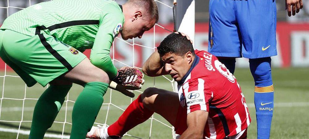 Ce i-a spus Ter Stegen lui Suarez dupa ce atacantul a cerut penalty dupa un duel cu portarul! Imaginile care nu s-au vazut la TV