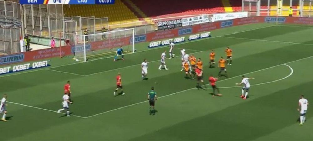 Razvan Marin, pasa decisiva pentru cel mai rapid gol inscris de Cagliari in Serie A in ultimii 16 ani! VIDEO cu faza din primele secunde