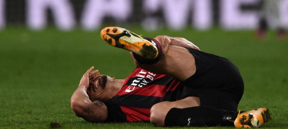 Veste teribila pentru Ibrahimovic! Starul lui AC Milan s-a accidentat si poate rata sansa de a evolua la Euro 2020