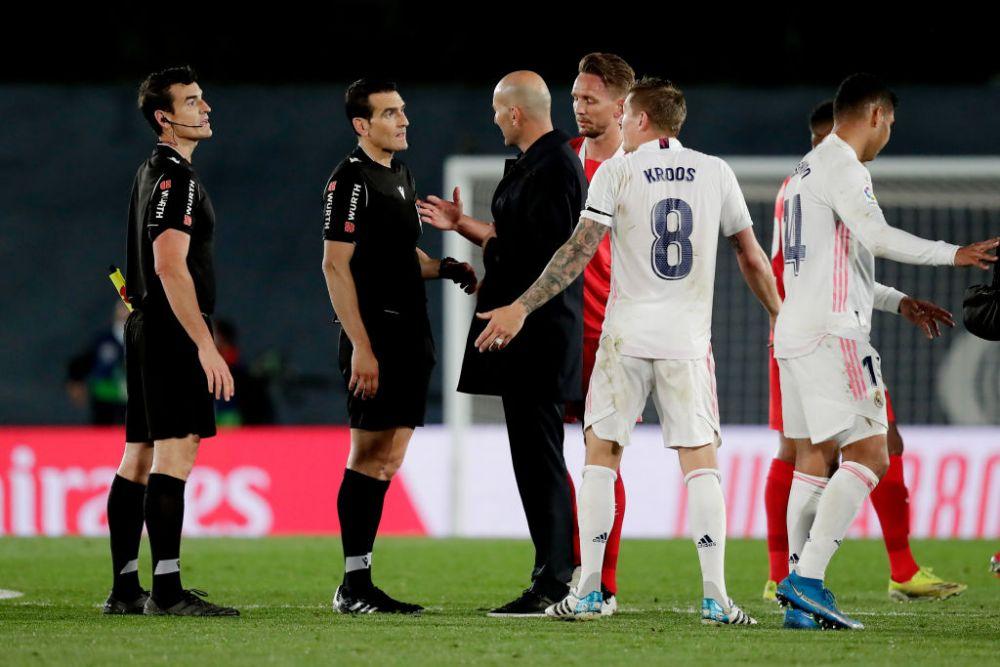 Zidane, scos din sarite de arbitru! Acuze dure dupa egalul care o tine pe Real pe locul 2