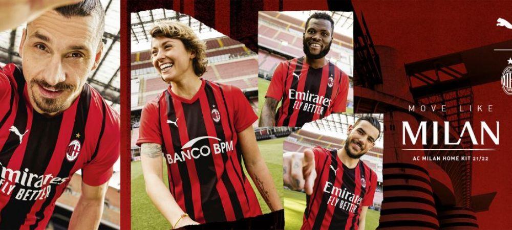 AC Milan si-a prezentat noul echipament! Cum va arata tricoul imbracat de Ibrahimovic in urmatorul sezon