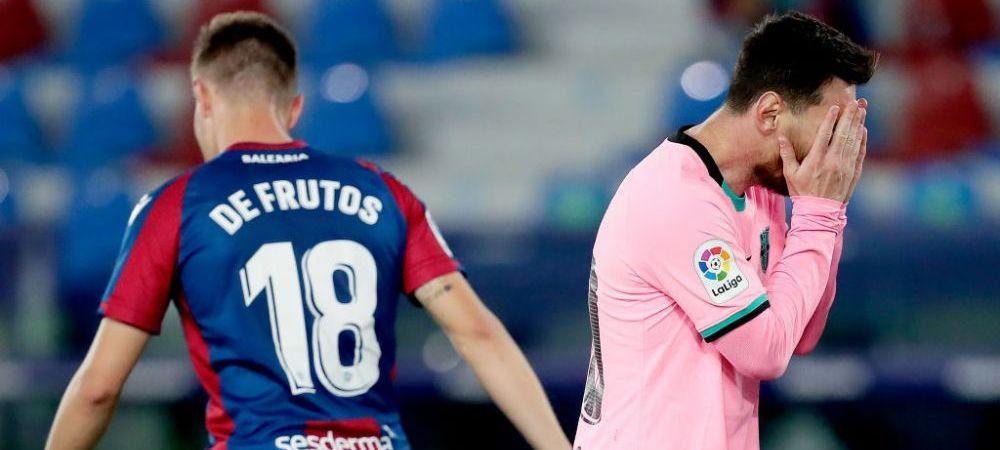 Barcelona rateaza pozitia de lider in La Liga dupa remiza nebuna cu Levante! Catalanii au luat doua goluri in doua minute! Cum arata lupta pentru titlu in Spania