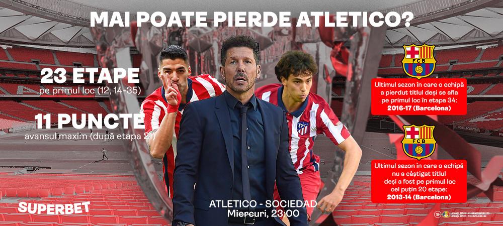 (P) Atletico a ramas pe primul loc dupa meciul cu Barcelona! 3 etape pana la un titlu ce parea sa-i scape printre degete