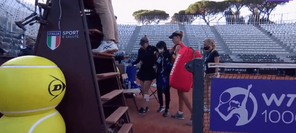 A plans de durere! Momentul in care Simona Halep s-a accidentat brusc in meciul cu Kerber si nu a mai putut sa faca niciun pas! Sanse minime de participare la Roland Garros