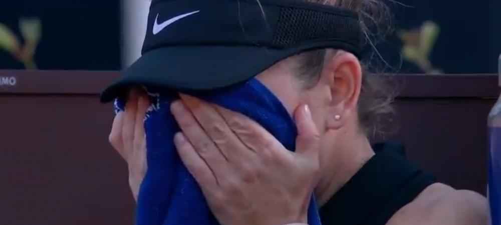 Primul diagnostic: ruptura musculara | Filmul accidentarii Simonei Halep la Roma: ce s-a intamplat mai exact si de ce ar putea fi acesta ultimul meci al anului pentru Simona Halep