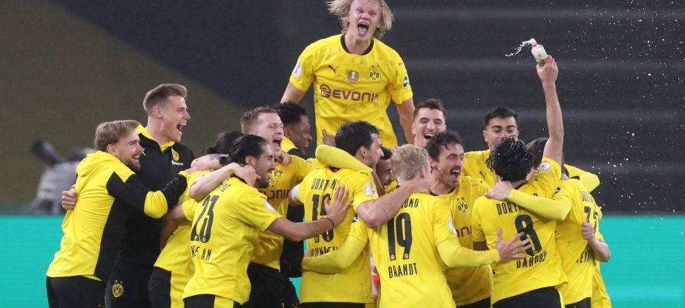 Cine-l mai opreste pe monstrul Haaland? L-a luat pe Sancho si au distrus Leipzig in finala Cupei Germaniei! Cum a marcat