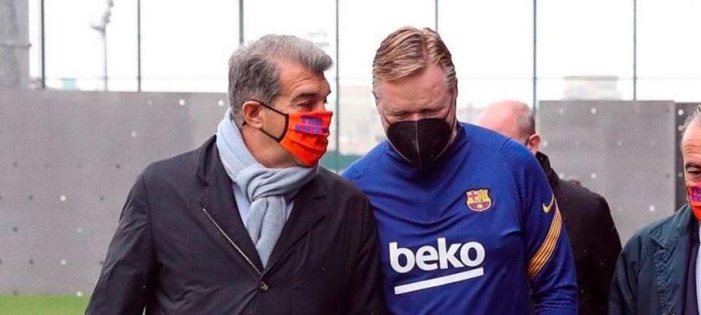 Tensiune la Barcelona pe final de sezon! Intalnire intre Laporta si Ronald Koeman pentru a discuta planurile de viitor