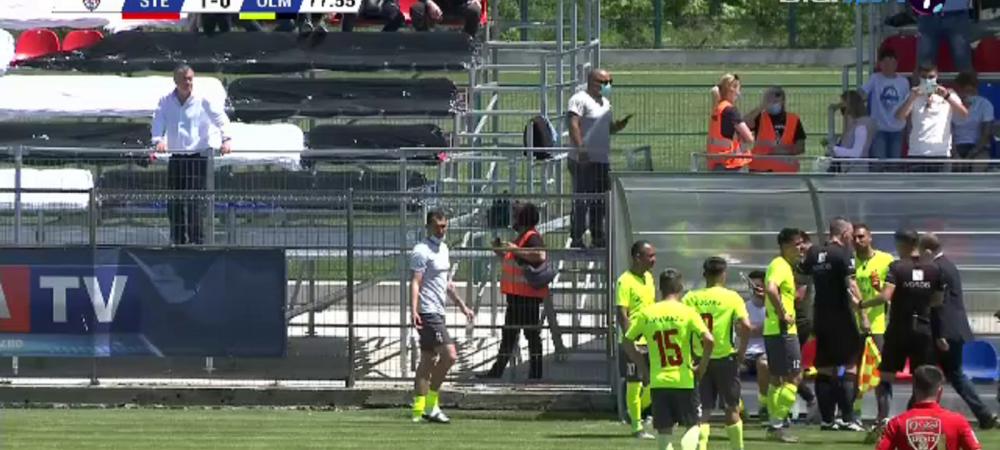 Scandal monstru la Steaua - Mostistea Ulmu! Oficialii de la Ulmu au oprit meciul dupa penalty-ul primit de echipa lui Oprita