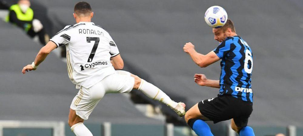 Uluitor! Arbitraj ca-n Liga 1 la Juventus - Inter. Ronaldo si Juve au castigat un derby dement cu Inter, 3-2! Radu n-a prins niciun minut