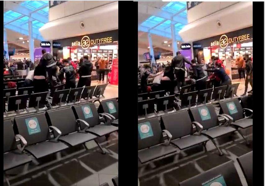 BREAKING NEWS   Romanii s-au luat la bătaie pe aeroportul din Londra! Sange si lovituri in plin cu trollerele! Sunt imaginile care fac inconjurul lumii! De la ce a plecat totul