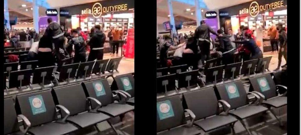 Romanii s-au luat la bataie pe aeroportul din Londra! Sange si lovituri in plin cu trollerele! Sunt imaginile care fac inconjurul lumii! De la ce a plecat totul