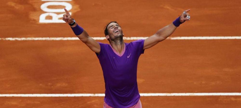 Rafael Nadal - Novak Djokovic 7-5, 1-6, 6-3 | Nadal scrie noi recorduri: e campion pentru a zecea oara la Roma!