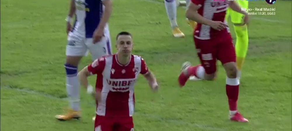 Au lucrat-o la antrenamente?! Faza SUPERBA la capatul careia Dinamo a deschis scorul la Pitesti. Mihaiu, la primul gol in Liga 1