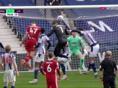 COLOSAL! Alisson a urcat in careu in minutul 95 si a dat un gol FABULOS pentru Liverpool! S-a pus in genunchi si a inceput sa planga