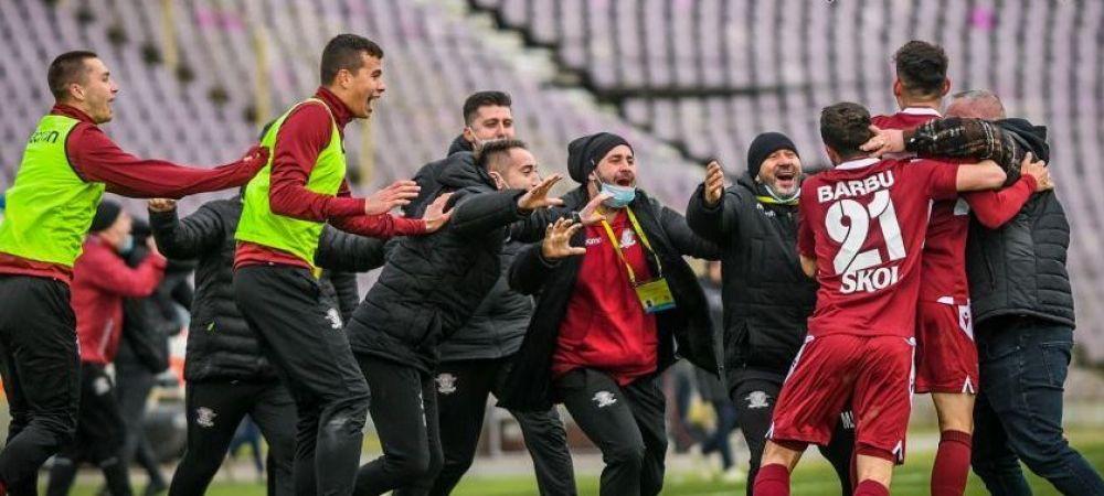 Rapid a promovat in Liga 1 inainte sa joace! Egalul Mioveniului cu Timisoara o duce in Liga 1 dupa 6 ani!