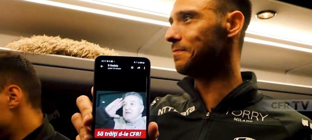 """Sa traiti, domnule CFR!"" Ironie incredibila a lui Camora la adresa lui Becali! Ce a putut sa arate in autocar dupa meciul cu Botosani"