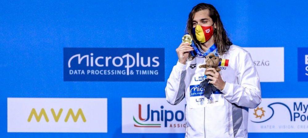 """""""Ma bucur ca sunt primul medaliat cu aur la masculin!"""" Ce a declarat Robert Glinta dupa performanta incredibila de la Europeanul de natatie"""