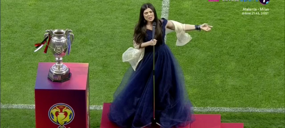 Mai emotionant de atat nu se poate! Momente incredibile inainte de startul Cupei Romaniei! Paula Seling a cantat imnul si i-a emotionat pe toti