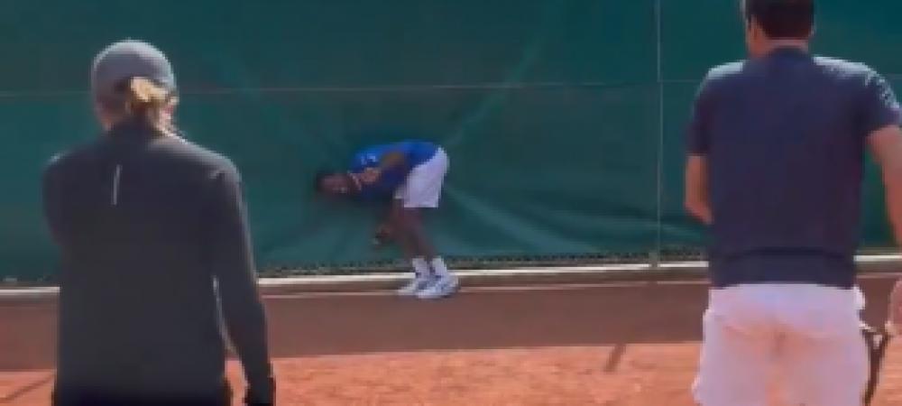 Roger Federer a comis-o! Elvetianul l-a lovit cu o minge pe Gael Monfils intr-o zona interzisa, sub ochii Elinei Svitolina: reactia jucatoarei din Ucraina