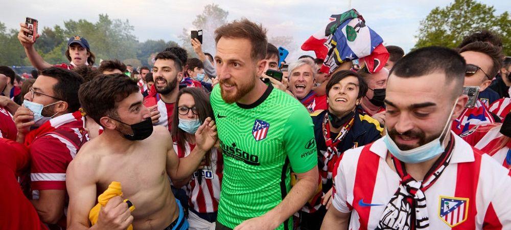 Imagini incredibile din Spania! Vedetele lui Simeone au dansat pe strazi cu fanii dupa ce Atletico a cucerit titlul! Gestul emotionant al lui Koke