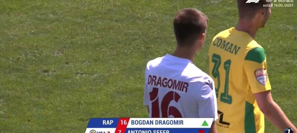 Debut suprinzator la Rapid! Nepotul lui Mitica Dragomir, la prima aparitie in fotbalul romanesc