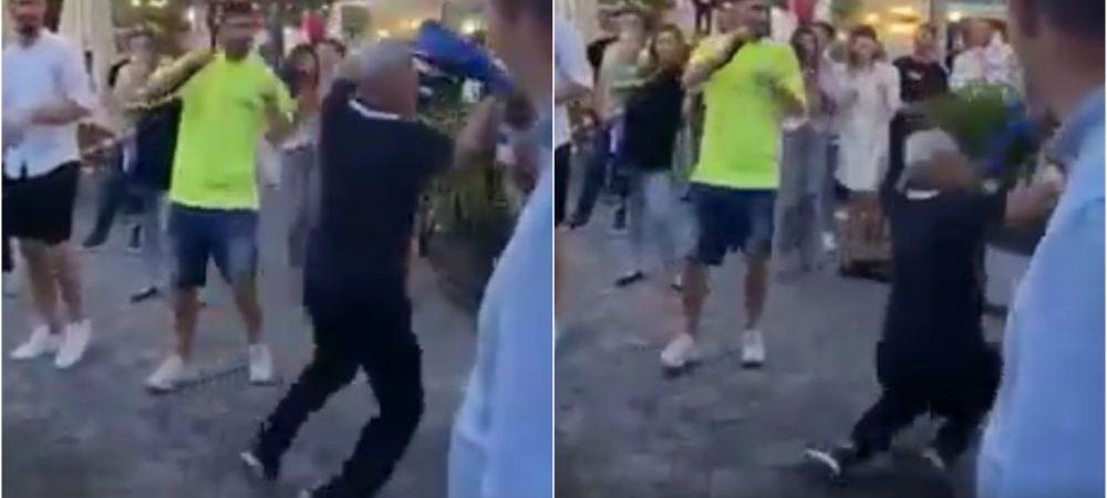 Cartu a cazut cand incerca sa 'atace' cu sampanie! Momente uluitoare la petrecerea Craiovei