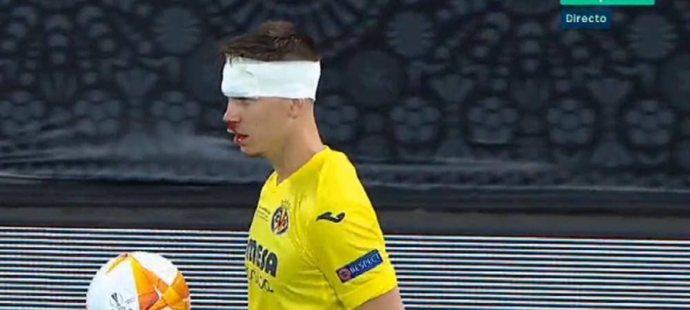 Determinare totala in finala Europa League! Foyth a ramas pe teren desi avea fata plina de sange! Pe internet circula deja glume pe seama lui