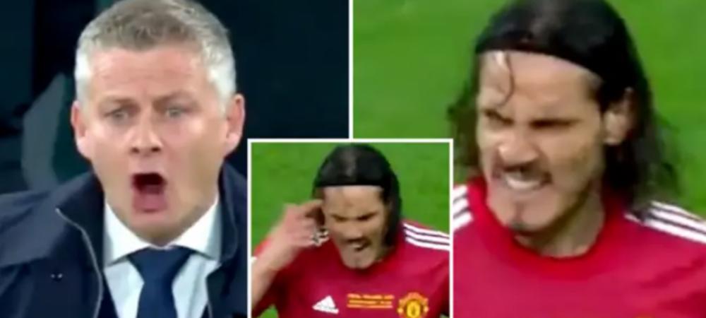 Conflict intre Cavani si Solskjaer in timpul finalei Europa League! Ce si-au strigat cei doi dupa golul marcat de Villarreal