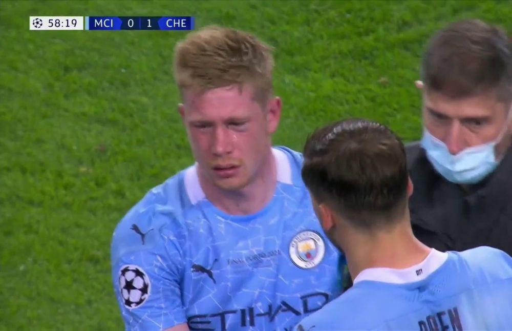 Clipe de cosmar pentru De Bruyne! Capitanul lui City a iesit in lacrimi dupa o intrare dura a lui Rudiger
