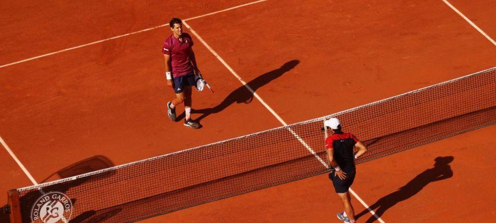 S-a scris istorie inca din prima zi la Roland Garros: Nadal sau Djokovic vor avea parte de un adversar debutant in finala, dupa ce Thiem a pierdut dupa 4 ore si 28 de minute de joc