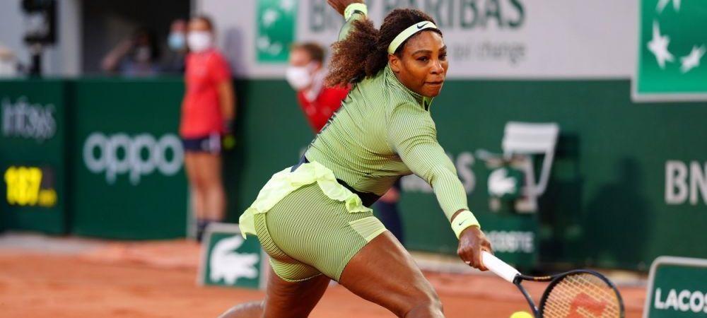 Ce echipament e asta, Serena? Americanca a furat toate privirile in meciul cu Irina Begu de la Roland Garros: cum i-au personalizat cei de la Nike incaltamintea de joc