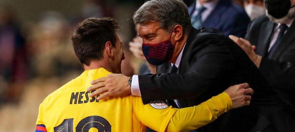 Laporta vrea sa il dea pe Messi exemplu! Presedintele Barcelonei este hotarat sa le reduca salariile jucatorilor