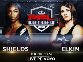 Meciurile din Professional Fighters League (PFL) se vad pe VOYO! De la ora 01:00,Claressa Shields vs. Brittney Elkin