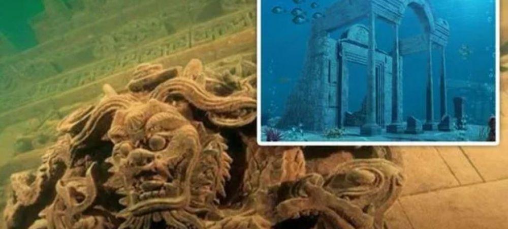 """""""Atlantida Chinei"""", orasul vechi de 2000 de ani, pastrat intact la 40 de metri sub apa"""