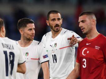 Nebunie in prima repriza la Euro 2020! Italienii au cerut patru penalty-uri, insa arbitrul nu a acordat nimic
