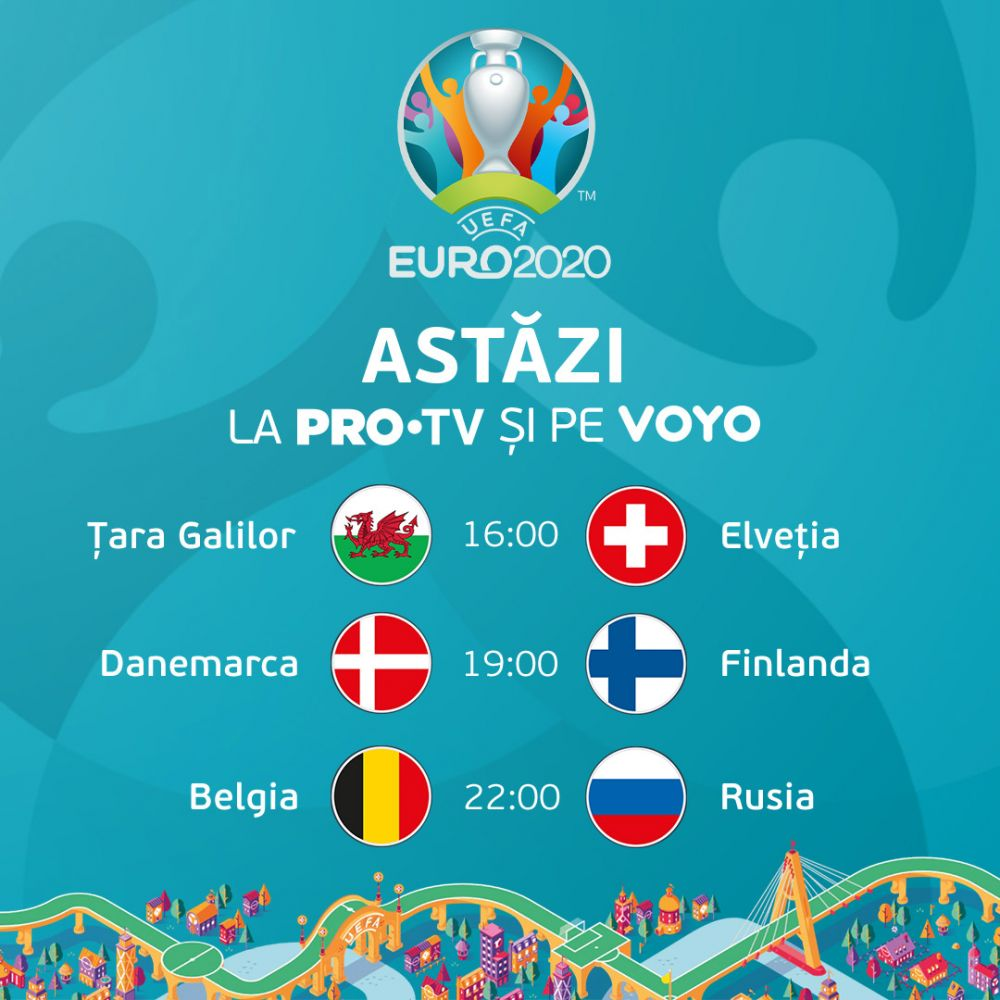Romanii au trait bucuria primului meci de la EURO 2020, in direct, pe PRO TV si VOYO!