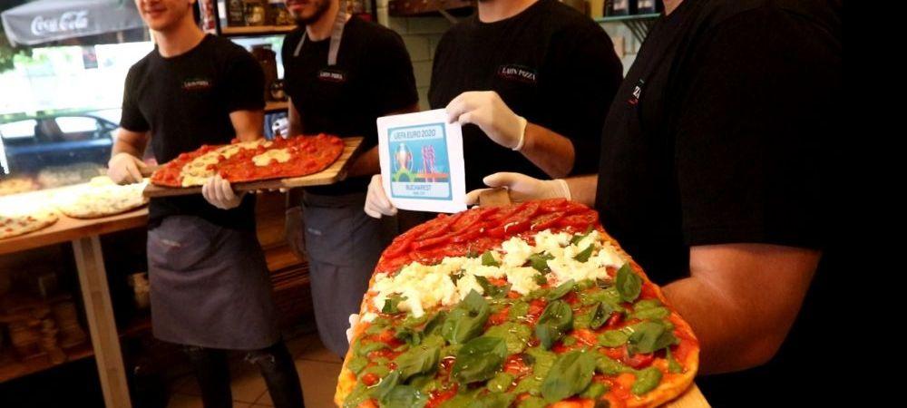 In Bucuresti, exact ca la Roma! Cel mai bun pizzaiolo din Capitala a pregatit o pizza speciala pentru debutul Euro 2020