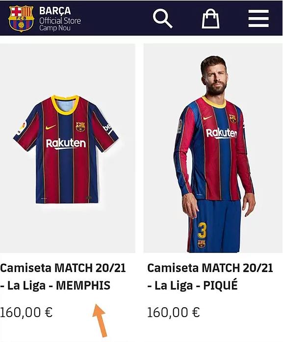 Este gata transferul? Barcelona vinde deja tricouri cu Depay