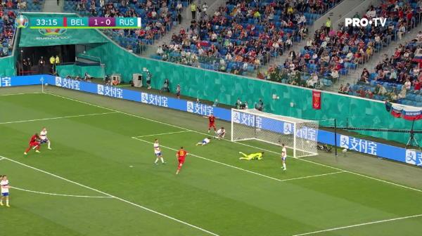 Meunier dubleaza avantajul Belgiei in fata Rusiei! 2-0 dupa 34 de minute la St. Petersburg.