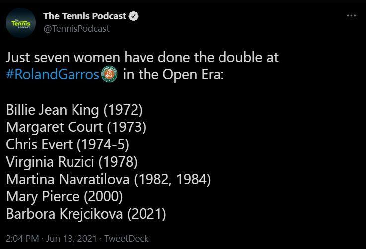 Sa o opreasca cineva! Barbora Krejcikova a castigat tot ce se putea la Roland Garros si a reusit o performanta istorica, neatinsa in ultimii 21 de ani